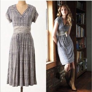 Anthropologie Wavering Grid Dress by Deletta